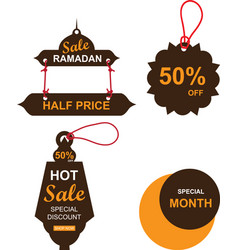 ramadan sale banners setdiscount and best offer vector image