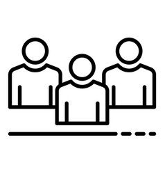 Recruitment group icon outline style vector