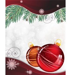 Red and orange Christmas decorations vector
