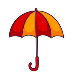 red-yellow umbrella vector image