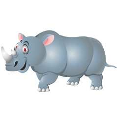 rhino cartoon isolated vector image