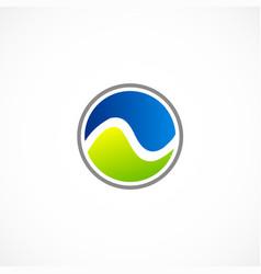 Round ecology symbol water logo vector