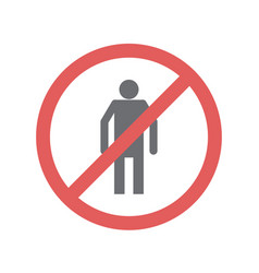 Safety no entry icon on white background for vector