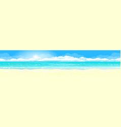 sandy coast azure ocean vector image