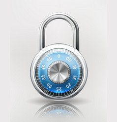 security concept with combination padlock vector image