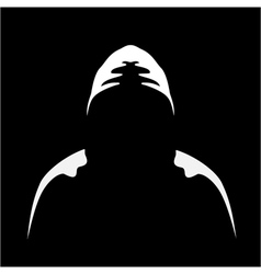 Silhouette of anonymous vector