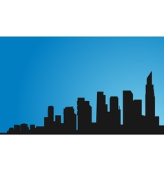 Silhouette of many buildings vector