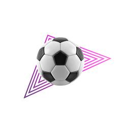 soccer ball - geometric modern realistic vector image