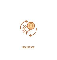 solstice concept 2 colored icon simple line vector image