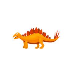 Triceraptor graze isolated cartoon vector