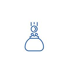 wallet line icon concept wallet flat vector image
