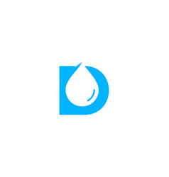 water letter d logo icon design vector image