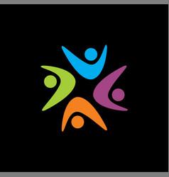 Webstar shape logo community logo human logo vector