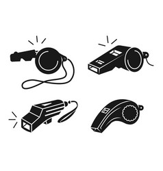 Whistle icons set simple style vector
