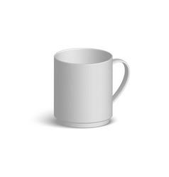white realistic mug vector image