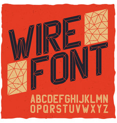 wirefont on red vector image