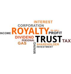 word cloud - royalty trust vector image vector image