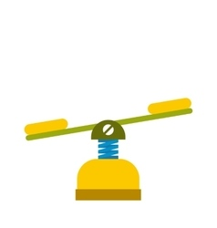 Yellow seesaw icon vector