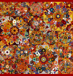 boho tile set and seamless pattern extravaganza vector image vector image