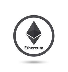 ethereum symbol chrystal vector image