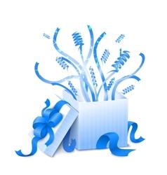Holiday present box vector image