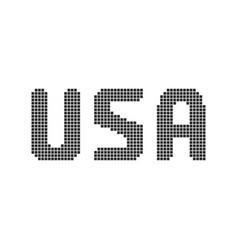pixel art black usa text vector image