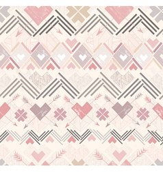 abstract geometric seamless pattern aztec style vector image vector image