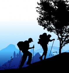 climbing vector image vector image