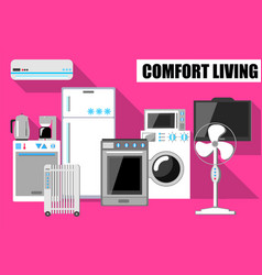 Comfort lifestyle in flat vector