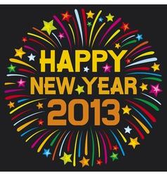 happy new year 2013 firework vector image