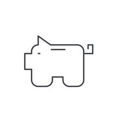 piggy bank finance money save thin line icon vector image