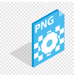 png image file extension isometric icon vector image