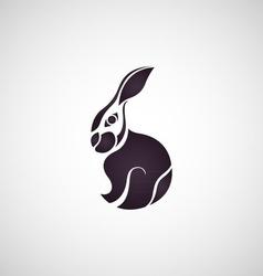 Rabbit logo vector image vector image