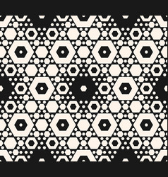 Seamless pattern with different sized hexagons vector