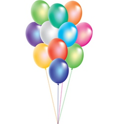 colorful balloons on white background vector image
