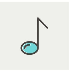 Eight note thin line icon vector image