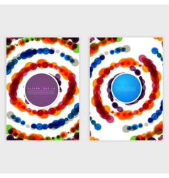 template with abstract background vector image