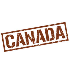 Canada brown square stamp vector