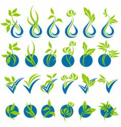 drops and leaves vector image vector image