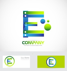 Letter E logo concept 3d vector image vector image