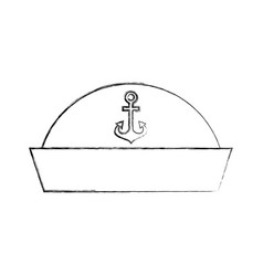 sailor hat isolated icon vector image