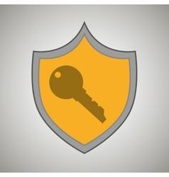 symbol key safe yellow bakcground vector image vector image