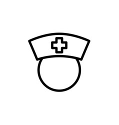 thin line nurse icon on white background vector image vector image