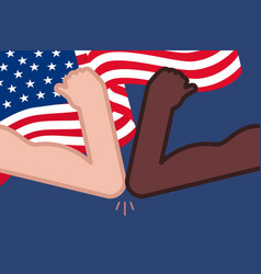 4th july with usa flagblack lives mattersocial vector