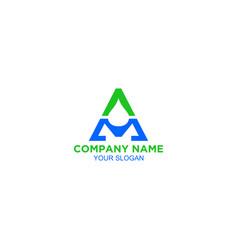 Am water logo design vector