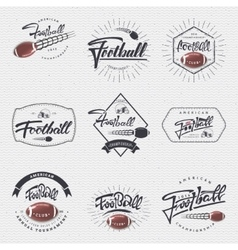 American football - badge sticker can be used vector