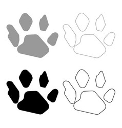 animal footprint icon grey and black color vector image
