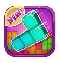 App icon with colorful blocks vector
