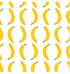 banana seamless pattern on white background vector image