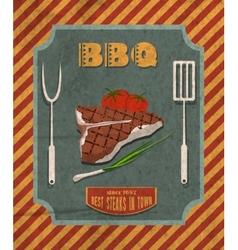Barbecue retro poster vector image